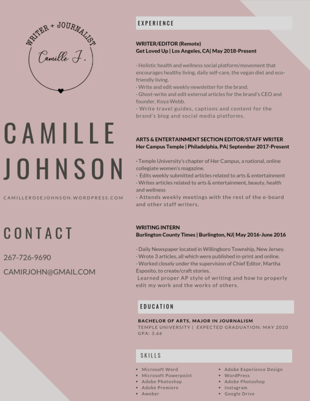 camillejohnson_OFFICIAL_2018resume